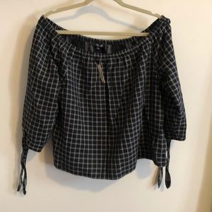 NWT Madewell Off the shoulder Top (Size Large)
